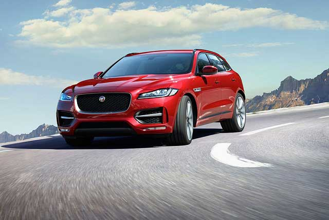 The performance packed F-Pace combines luxury with a beautifully crafted interior.