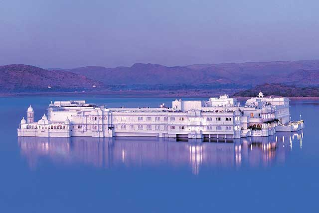 Magnificent elegance of Taj Lake Palace, amidst the ambience of Pichola Lake.