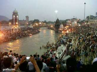 Aarti in Haridwar on 10th June. Many started their journey to Chardhaam. We do not know who have returned or continued for else.