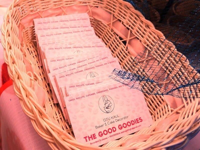 Visiting Card designing, creative, Baking with Gitu, Gitanjali Kaul of The Good Goodies cakes and bakery