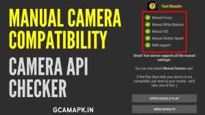 Manual Camera Compatibility APK