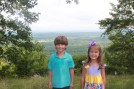 The grand niece and nephew Riley Clair and Ethan Parker