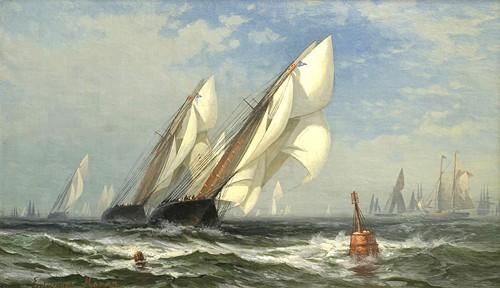 The Winning Yacht 1876 By Edward Moran GCaptain