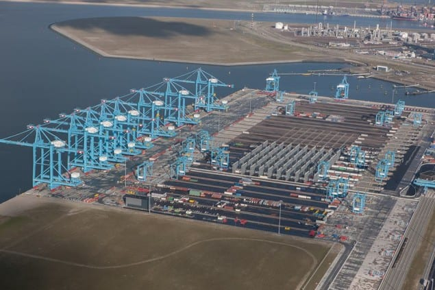 APM Terminals Maasvlakte II Rotterdam facility. Photo: Maersk/Facebook