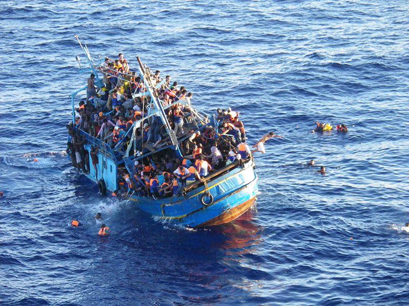 Det er vondt å se de menneskelige lidelsene. Bilde lenket fra gcaptain.com.