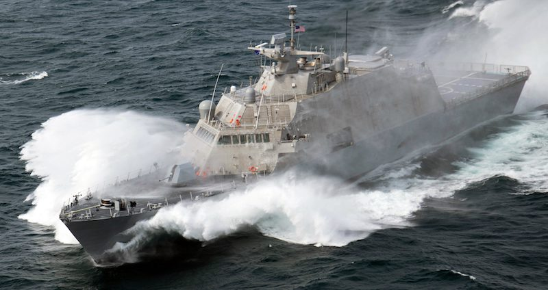 USS Milwaukee (LCS 5) during sea trials