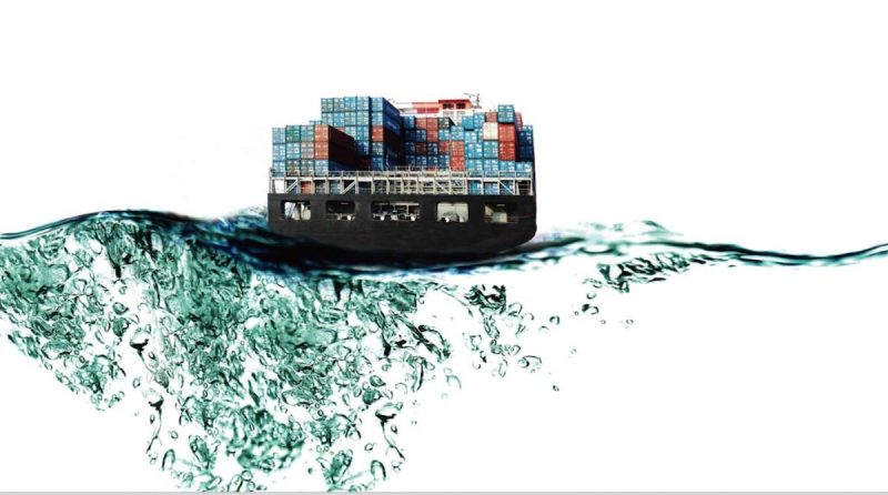 Stern View Of A Hanjin Containership