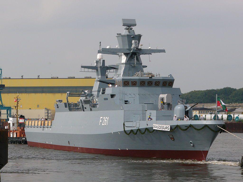 The Braunschweig-class corvette, Magdeburg.