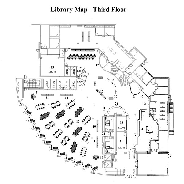 Glendale College Library Map and Floor plans