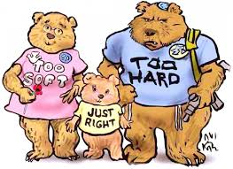 3 Bears, labeled Too Soft, Too Hard, and Just Right