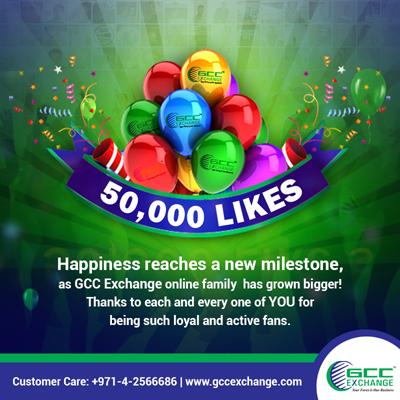 GCC Exchange 50,000 Facebook Likes