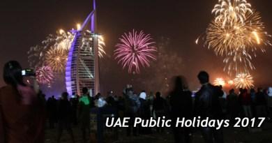 UAE Public Holidays 2017