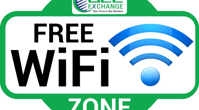 Free Wi-Fi Zone at all GCC Exchange Branches in UAE