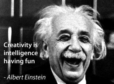 creativity-is-intelligence having fun