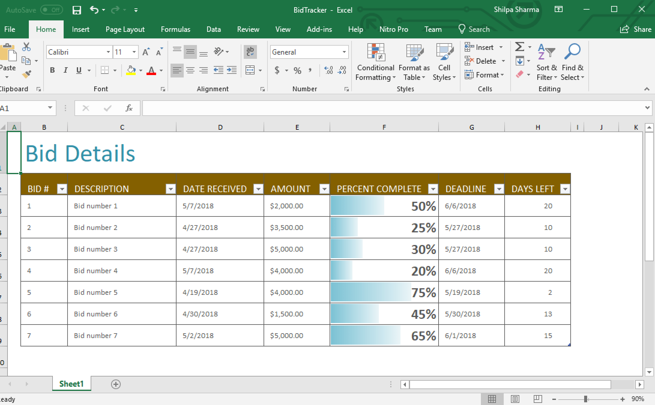 Creating Excel Documents Using Server Side Excel Api