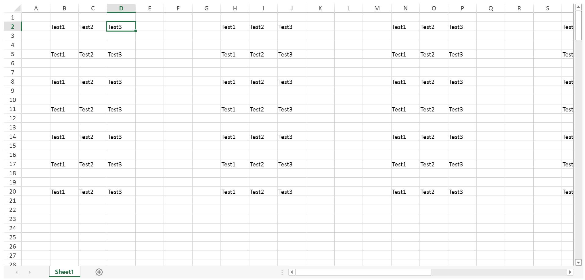 Spreadeets Excel Navigation