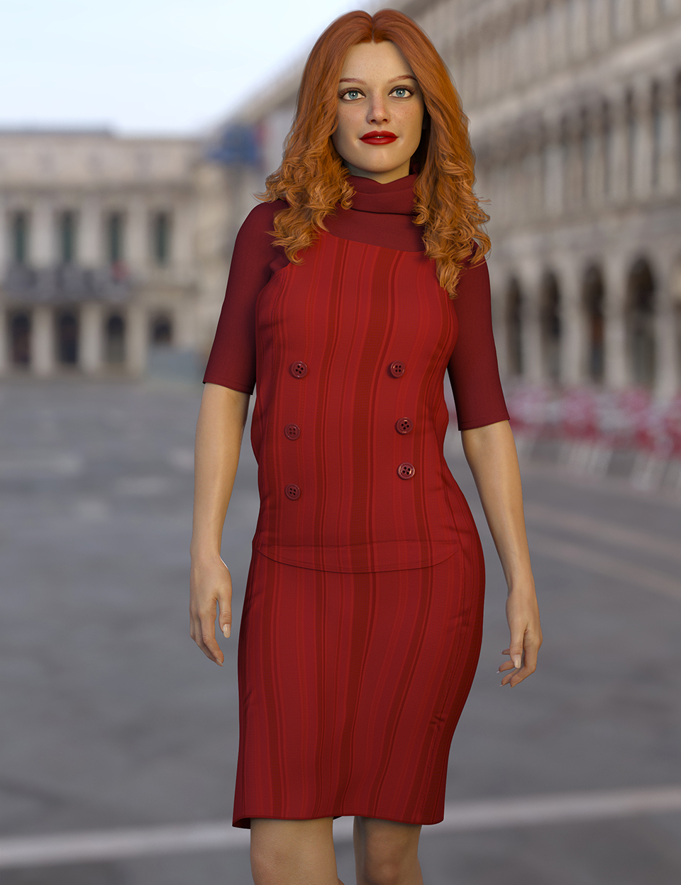 dForce Azul Outfit for Genesis 8 Females by: Nelmi, 3D Models by Daz 3D