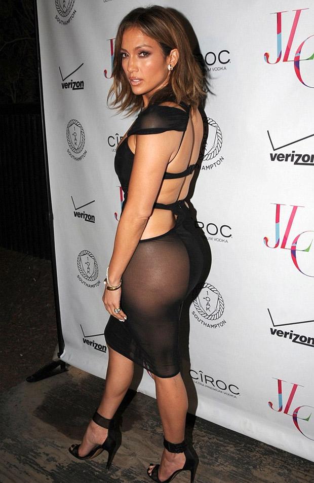 Jennifer Lopez celebr su 46 aos con vestido transparente