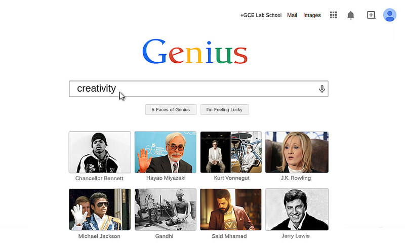 Patterns of Genius- a Five Faces Online Installation