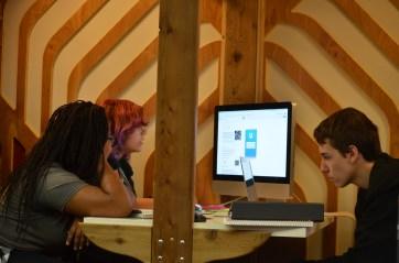 Collaborative work in the Dyson Design Lab.