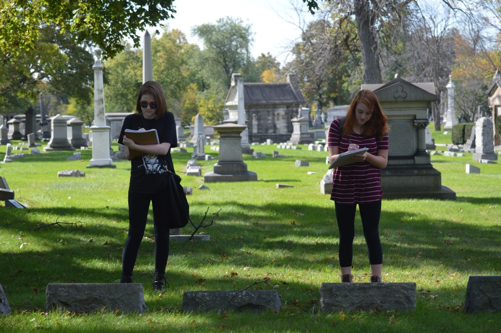 Collecting Data on Population @ Oak Woods Cemetery