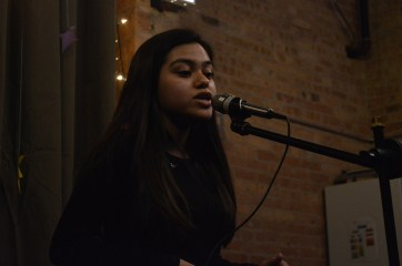Performing an original piece for Poetic Justice.