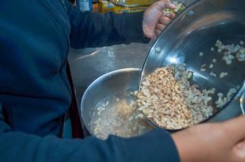 Cashews soaking for the vegan cheese sauce.