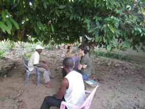 CAM's interns interviewing local councillor, Mbalangi, 2012
