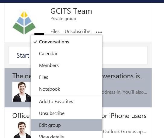 Edit Group In Outlook Web App