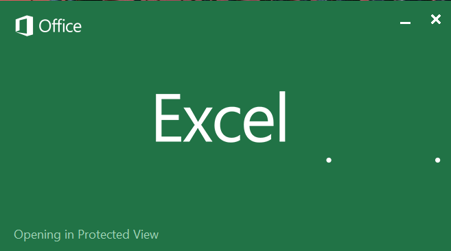 Excel 2016 stuck on Opening in Protected View - GCITS