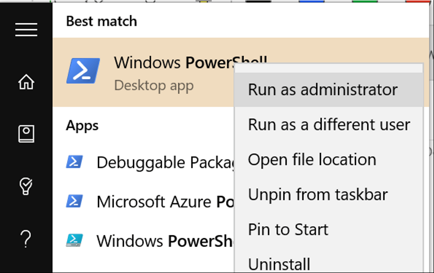 Open PowerShell As An Administrator To Connect To Exchange Online