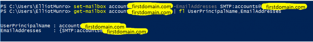 Removing The Extra Proxy Address And Confirming That It Worked