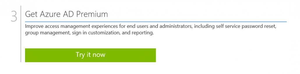 Try Azure Active Directory Premium