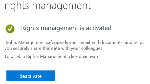 Wait For Information Rights Management To Activate