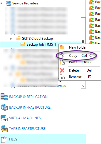 Copy Veeam Backup Folder
