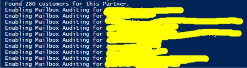 Enable Mailbox Auditing in Office 365 via PowerShell