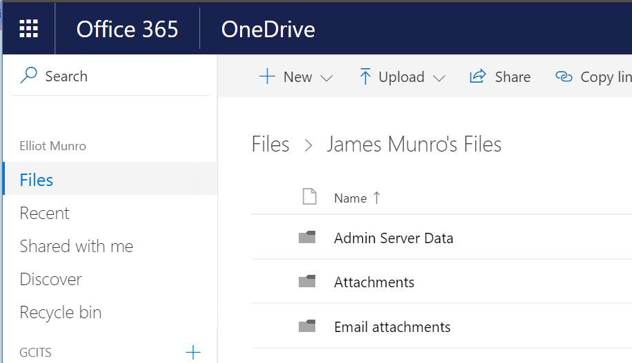 Files Located In Destination OneDrive