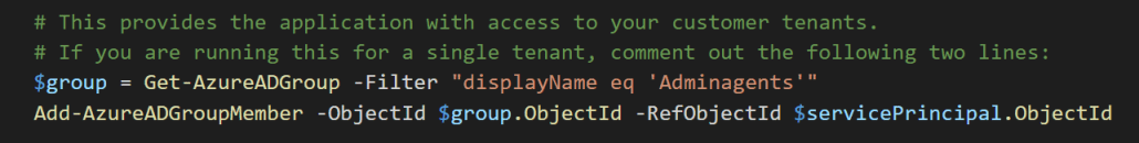 Run Script For A Single Tenant