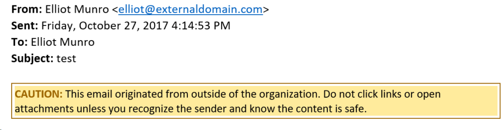 Warning On All External Email
