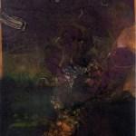 "Visitors, 10x16"", collagraph by Garry C Kaulitz"