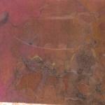 "Slumber, 20x16"", collagraph by Garry C Kaulitz"