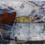 "Maybe, 30x7"", collagraph by Garry C Kaulitz"