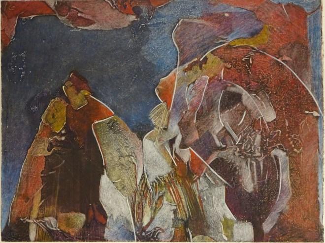 """Romeo's Nightmare, 20x16"""", collagraph by Garry C Kaulitz"""
