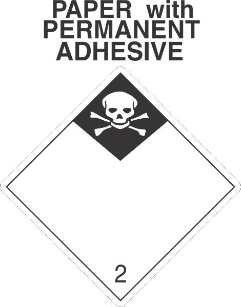 Inhalation Hazard Class 2.3 Paper International Wordless