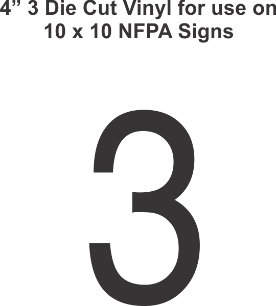 Die Cut 4in Vinyl Symbol 3 for NFPA (National Fire
