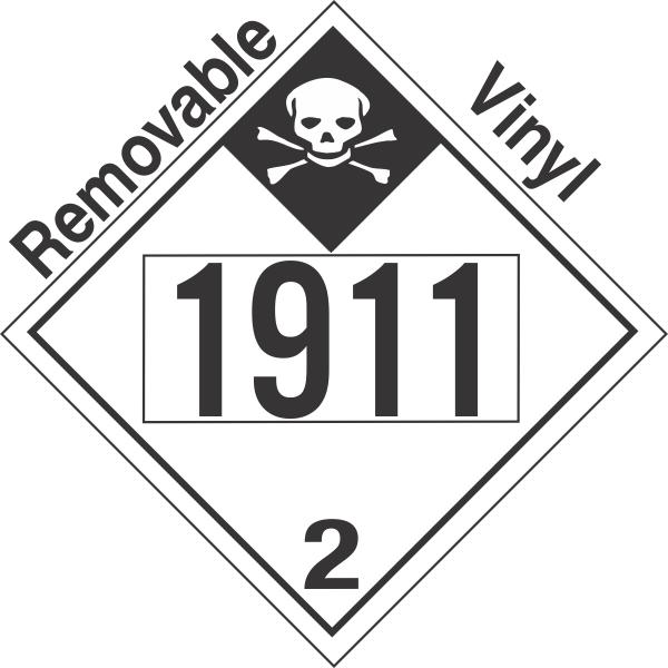Inhalation Hazard Class 2.3 UN1911 Removable Vinyl DOT Placard