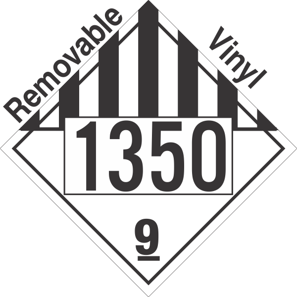 Miscellaneous Dangerous Goods Class 9 UN1350 Removable