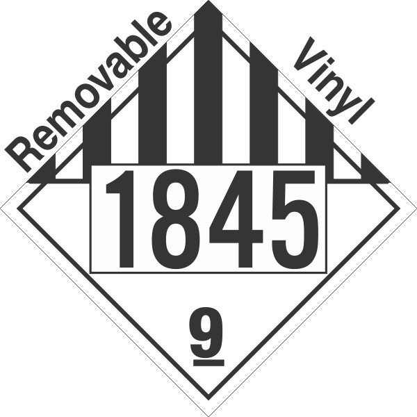 Miscellaneous Dangerous Goods Class 9 UN1845 Removable