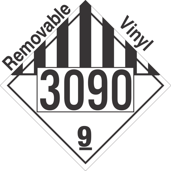 Miscellaneous Dangerous Goods Class 9 UN3090 Removable