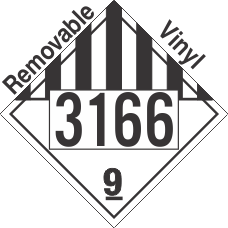 Miscellaneous Dangerous Goods Class 9 UN3166 Removable